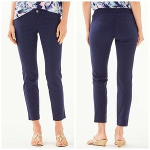 Lilly Pulitzer NWT Blue Kelly Skinny Ankle Pants